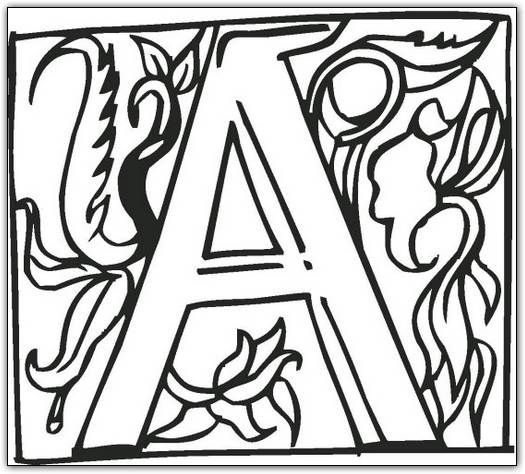 Fancy letters to use to make an illuminated letter Not exactly an