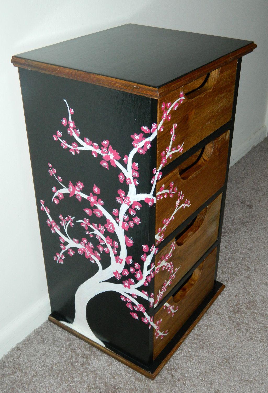 Cherry Blossom Dresser Susie S Room Upcycle Dresser Furniture Vanity Decor