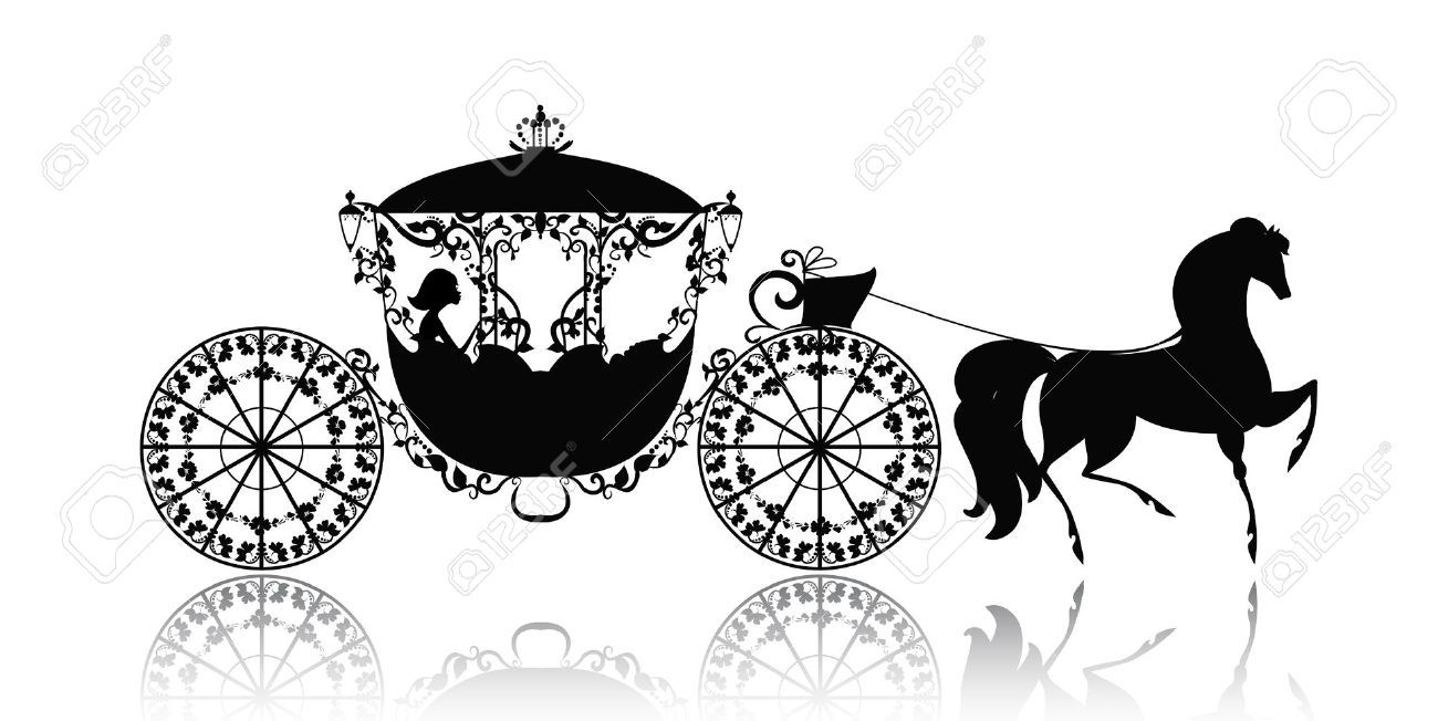 small resolution of vintage silhouette of a horse carriage royalty free cliparts