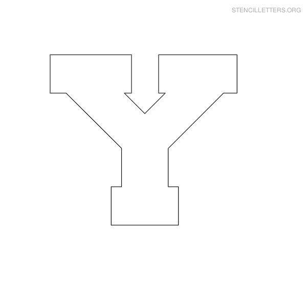 Stencil Letter Block Y | camp stencils | Letter stencils, Stencils