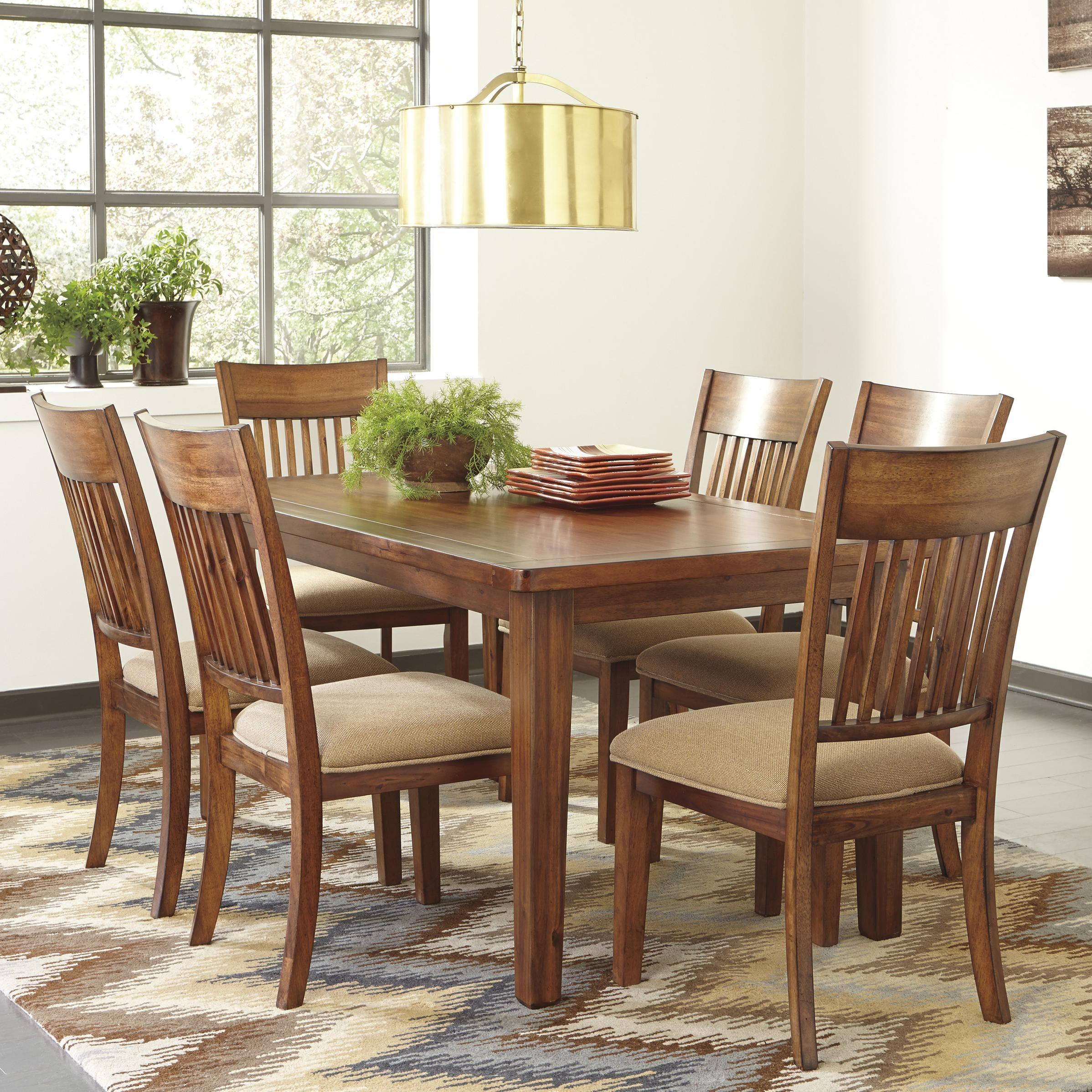 Shallibay 7 Piece Rectangular Table Set By Signature Design