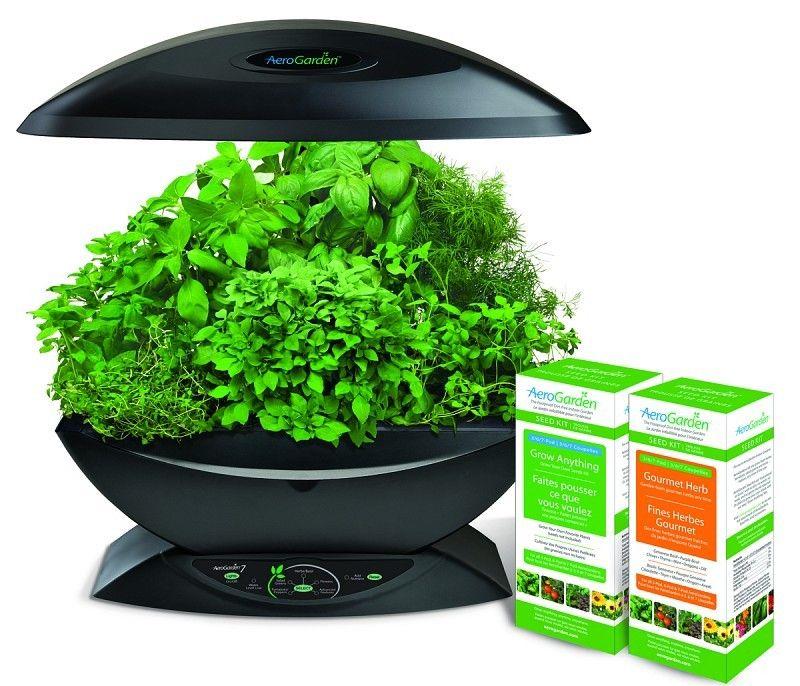 HydroBuildercom AeroGarden 7 wGourmet Herb Grow Anything Kit