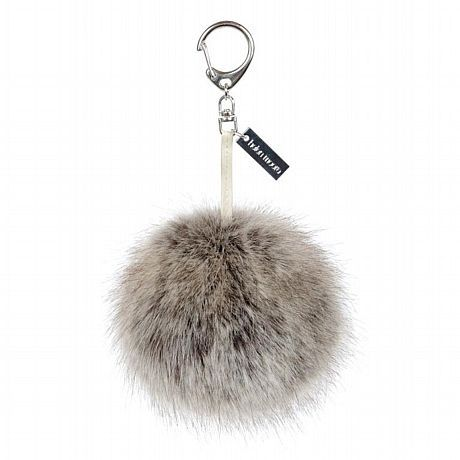 Helen Moore Truffle Faux Fur Pom Pom Keyring available at www.thegreatbritishhome.com #pompom #madeinbritain #fauxfur #keyring #handbag #accessories
