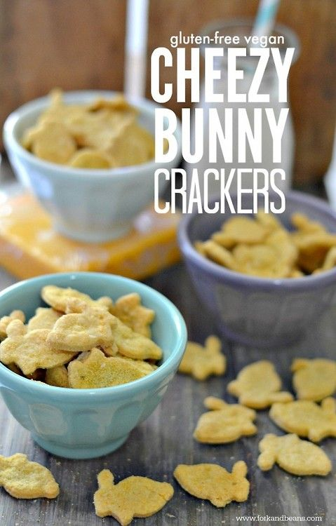 (via Gluten-free Vegan Cheezy Bunny Crackers | Fork and Beans)   #healthy #vegetarian #recipes Find more healthy recipes @ http://standouthealth.com