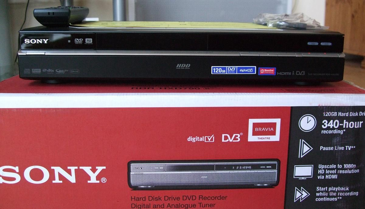 c61ee0002 Sony RDR-HXD790 UK DVB-T Freeview DVD/HDD recorder | My gadget life ...