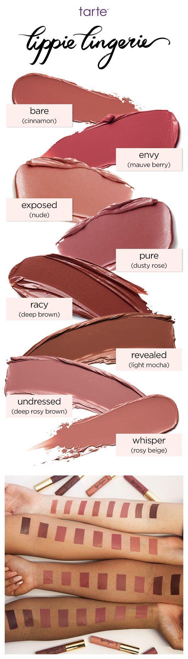 Lippie Lingerie Matte Tint Is A Longwearing Hydrating Lip Favorit Xo 55 In Range Of 8 Sexy Nude Shades Tartecosmetics Tarte