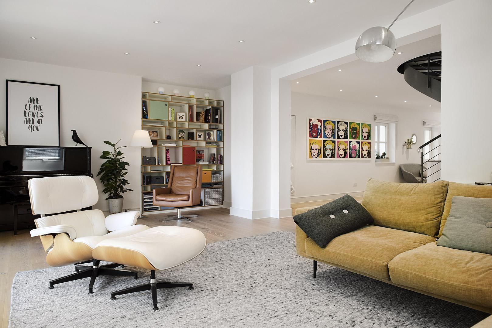 Einrichtungsidee Wohnzimmer & moderne Möbel. Sessel, Leder ...