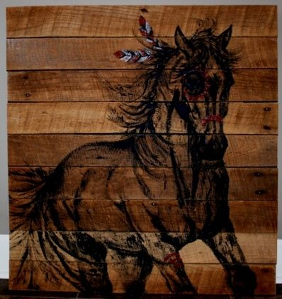 Native Mustang Horse Painting On