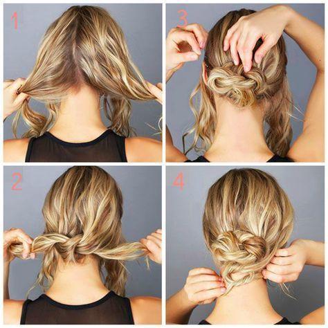 20 einfache frisuren für kurze haare in 2020 | dutt frisur