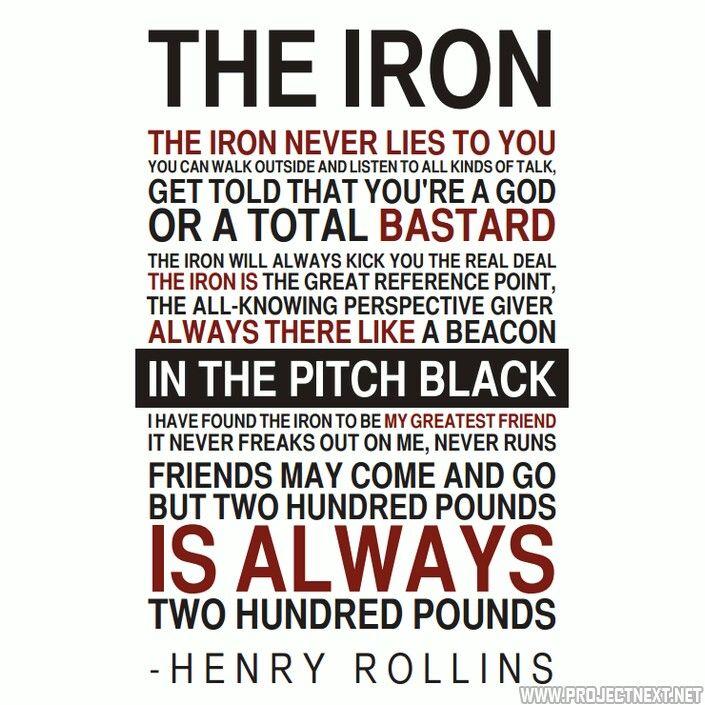 Henry rollins the iron never lies pinterest