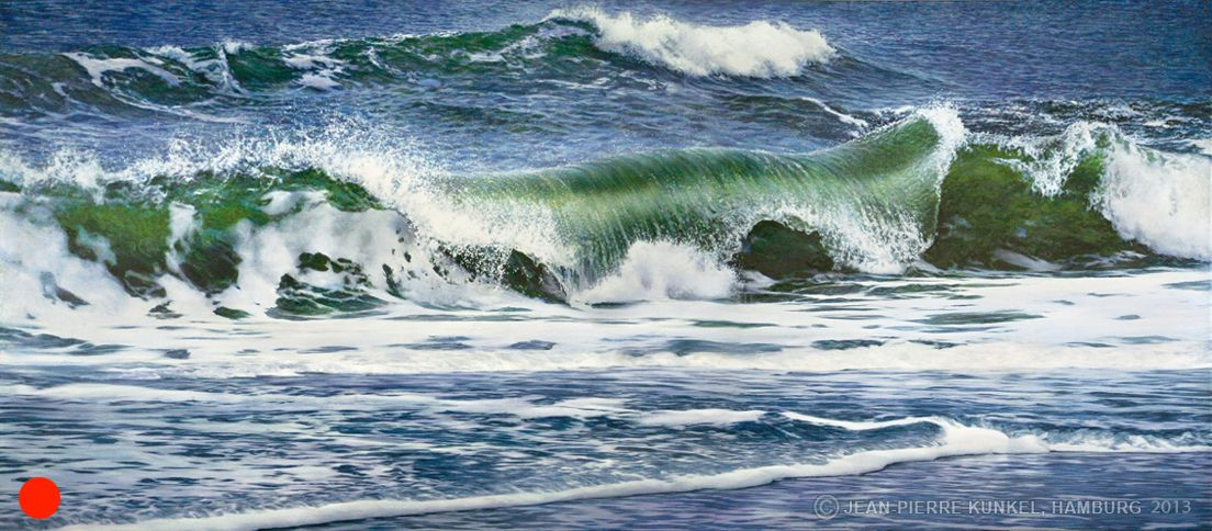 painting - Wave 1 // Welle 1 -  300 x 130 cm - Oil on canvas SOLD