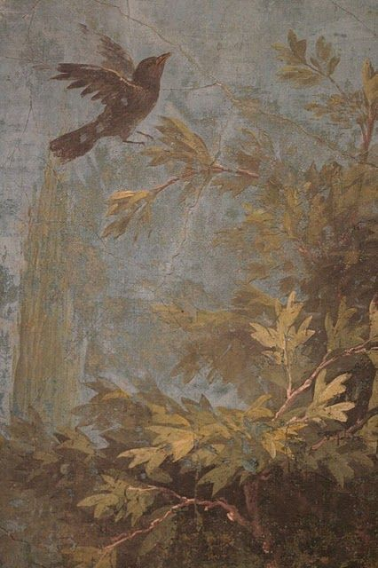 From a fresco on an ancient Roman wall, now at the museum at Palazzo Massimo in Rome