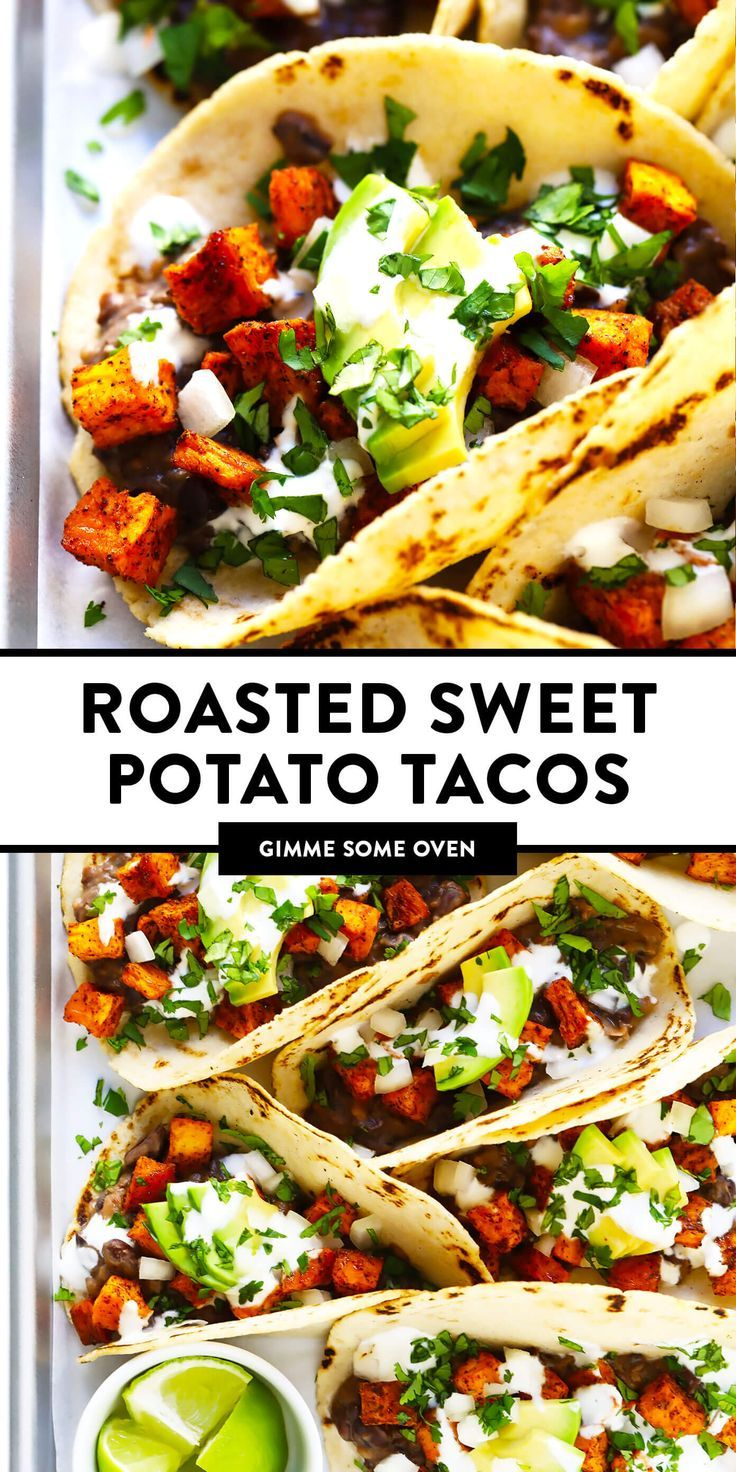 Roasted Sweet Potato Tacos Recipe | Gimme Some Oven