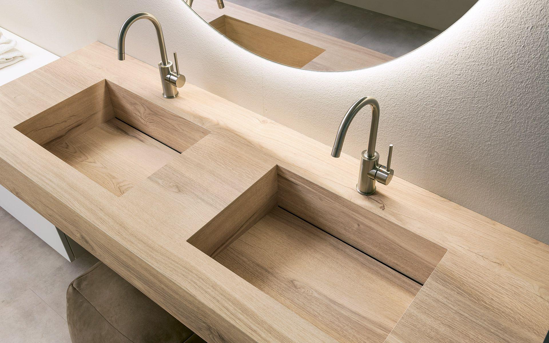 Legno Laminato Per Mobili vasche integrate per bagno, top in laminato stratificato hpl