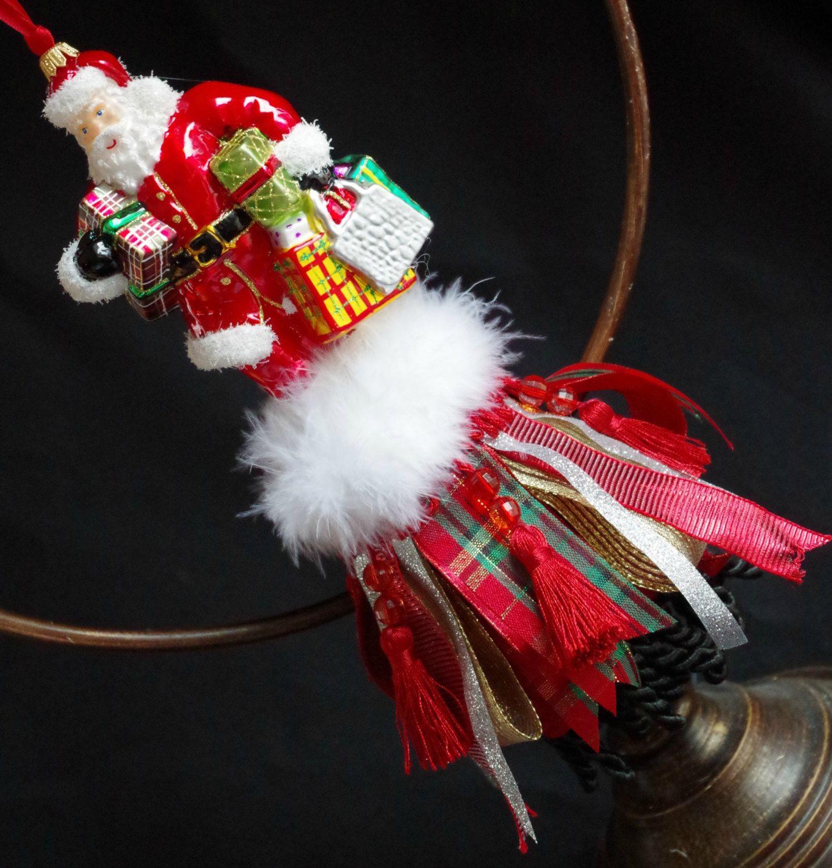 Items Similar To Santa Claus Decorative Tassel Ornament Ribbon Tassel