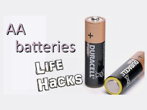 Recharge Ordinary Aa Batteries Only In Minutes Battery Hacks Youtube Battery Hacks Battery Camping Life Hacks