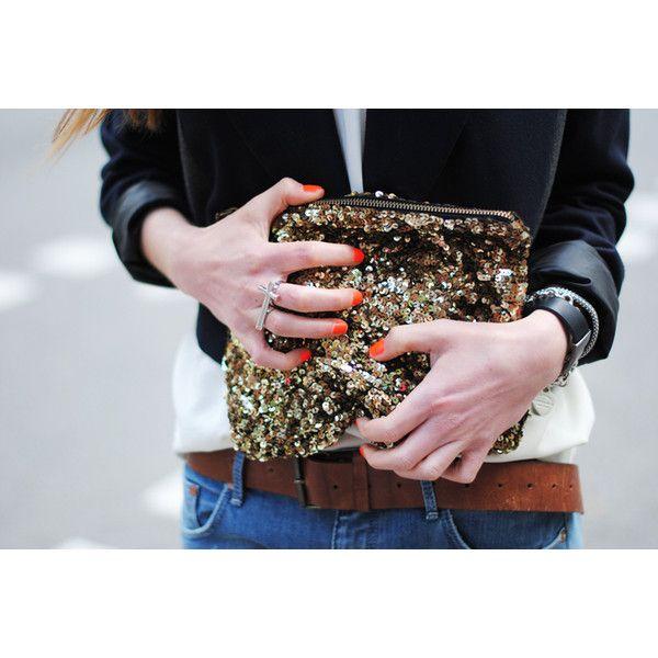 Sequin Zara clutch
