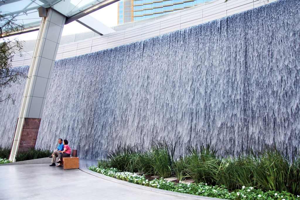Waterfall at Aria Resort \u0026 Casino Citycenter Las Vegas Nevada. | Flickr - & Waterfall at Aria Resort \u0026 Casino Citycenter Las Vegas Nevada ...