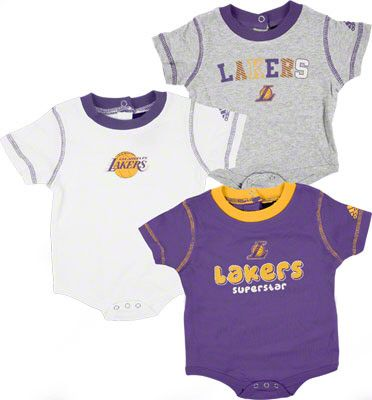 Los Angeles Lakers Newborn 3 Piece Body Suit Set Custom Baby Clothes Baby Boy Outfits Boy Outfits