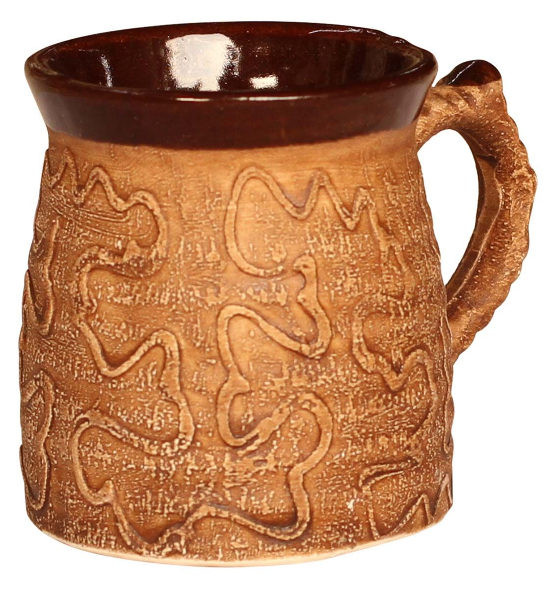 Bulk Wholesale Handmade Glazed Ceramic Coffee Tea Mug Hand Painted Textured Shades Of Brown Home Kitchen Access Mugs Wholesale Cups Handmade Ceramics