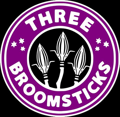 GeekSVGs three broomsticks starbucks logo in 2020 Harry