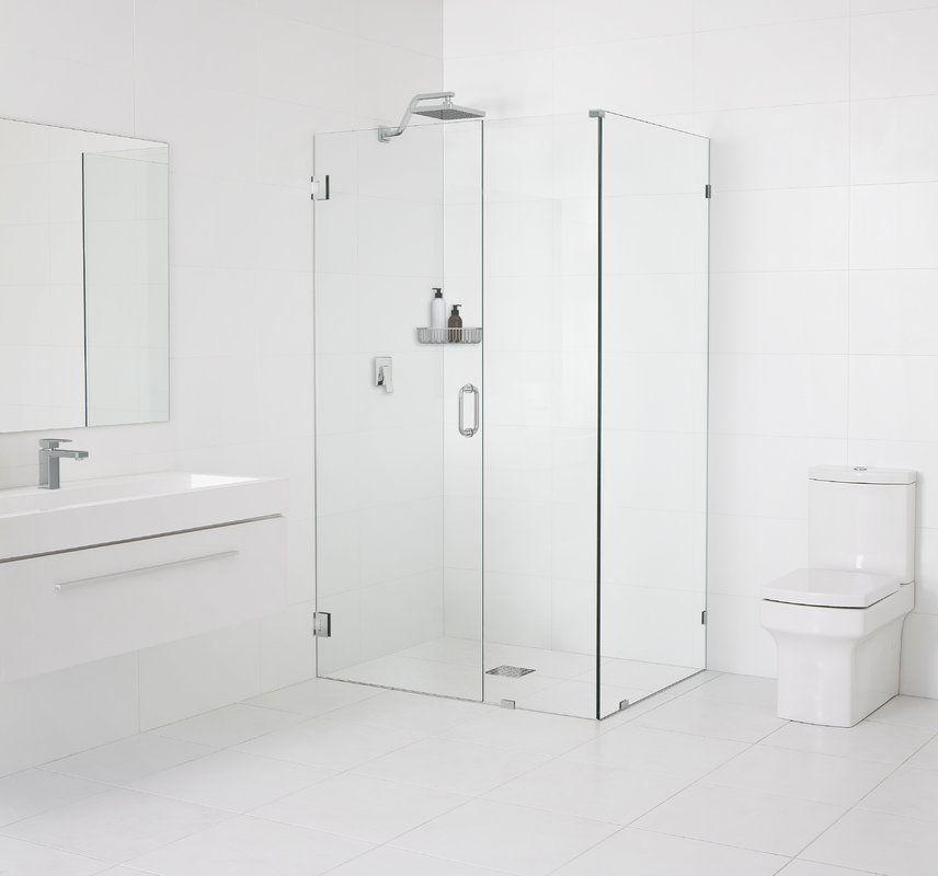 34 5 X 78 Hinged Frameless Shower Door Frameless Shower Enclosures Frameless Shower Doors Shower Doors