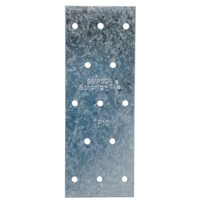 Simpson Strong Tie Tp 1 13 16 In X 5 In 20 Gauge Galvanized Tie Plate Tp15 The Home Depot Home Depot Wood Post Galvanized