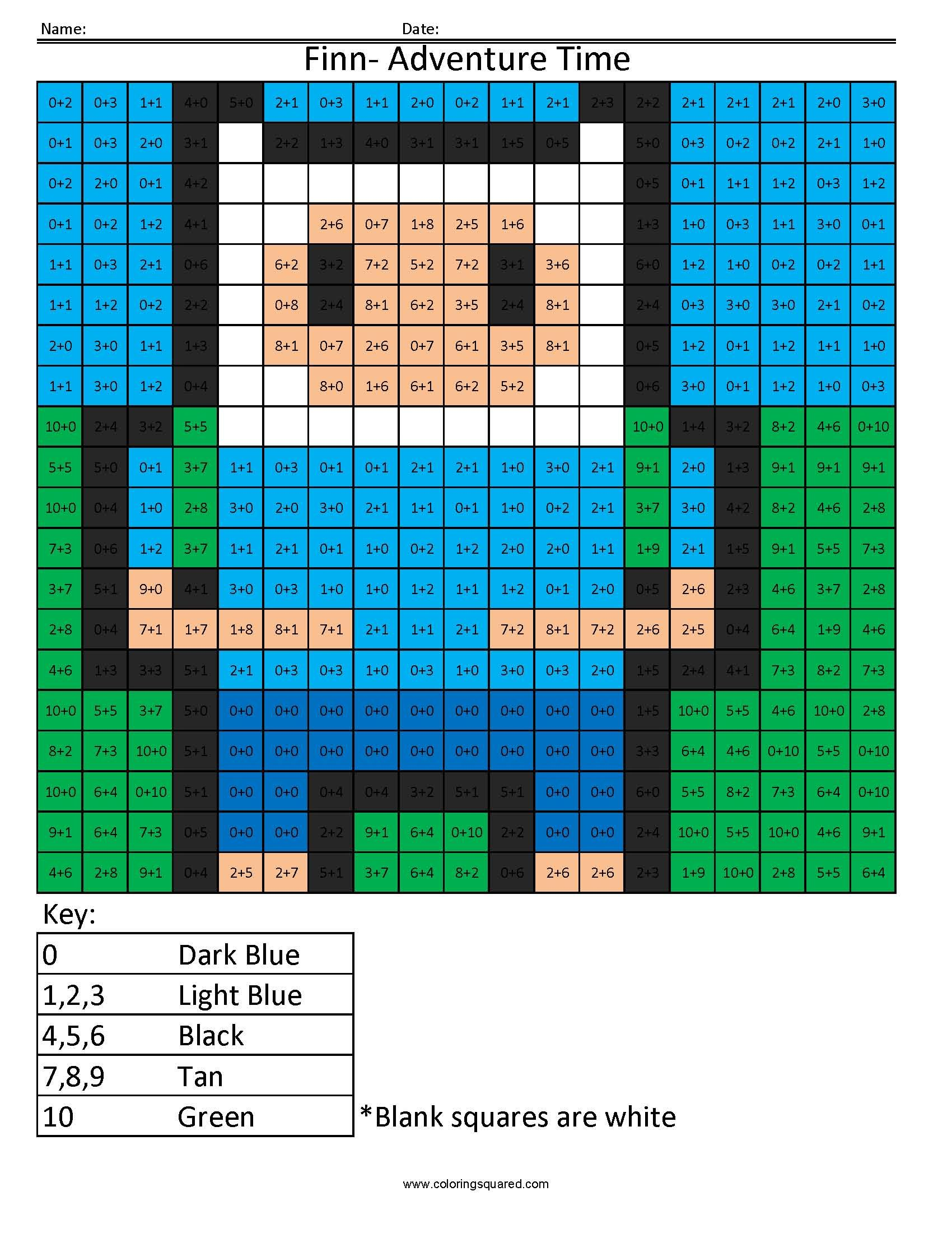 Cartoon Addition And Subtraction Coloring Squared Addition And Subtraction Subtraction Addition And Subtraction Worksheets [ 2200 x 1700 Pixel ]