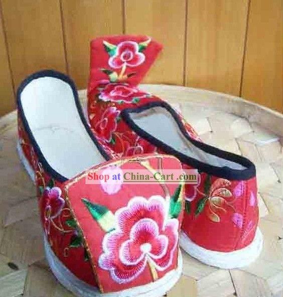 Ancient Chinese Handmade Hanfu Wedding Shoes For Women
