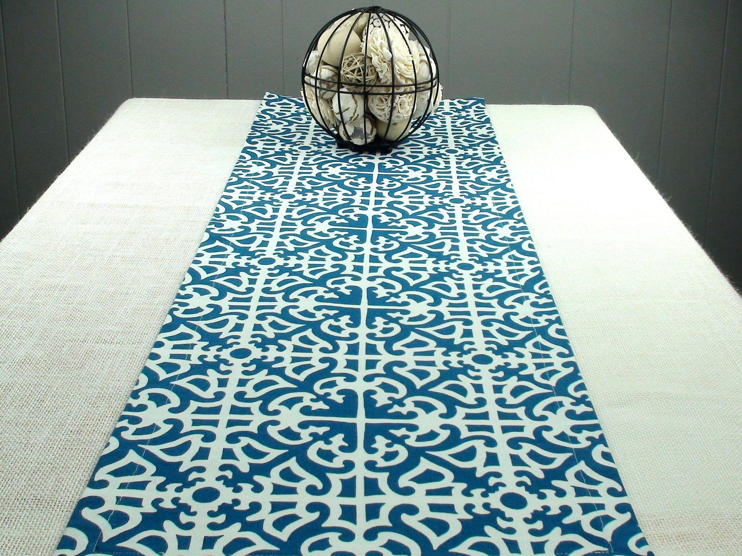 Nice Items Similar To Blue Table Runner, Blue And White Table Runner In 50 Inches  Long   Porcelain On Etsy