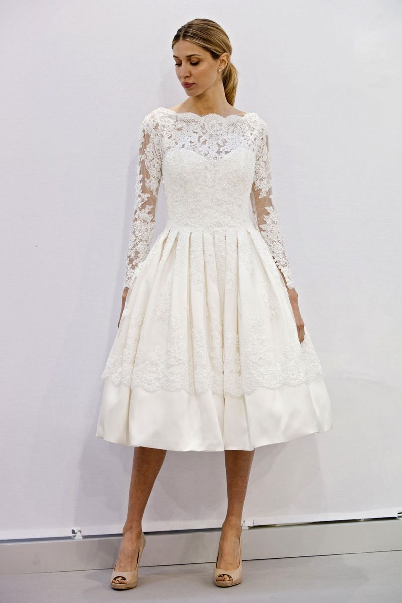 The Best Short Wedding Dresses From Fall 18 Bridal Week   Short ...