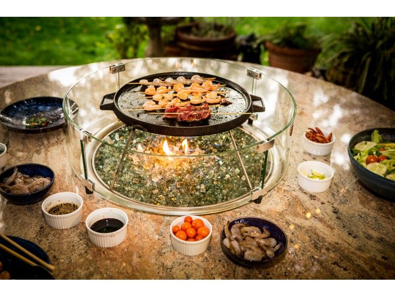 Fire Pit Cooking Kit Bbq Table Fire Pit Cooking Cooking Kit