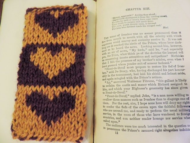 Free Heart Bookmark Double Sided Knitting Pattern Website Also Has