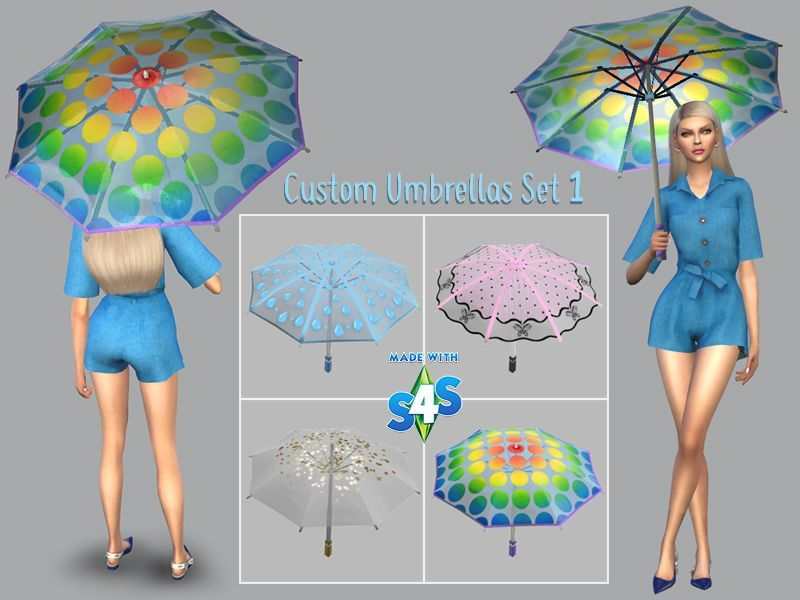 Custom umbrellas for The Sims 4 Seasons. Make sure that