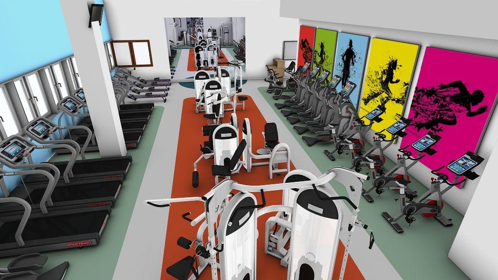 3d Gym Design For Queen Margaret University Gym Design Gym Design