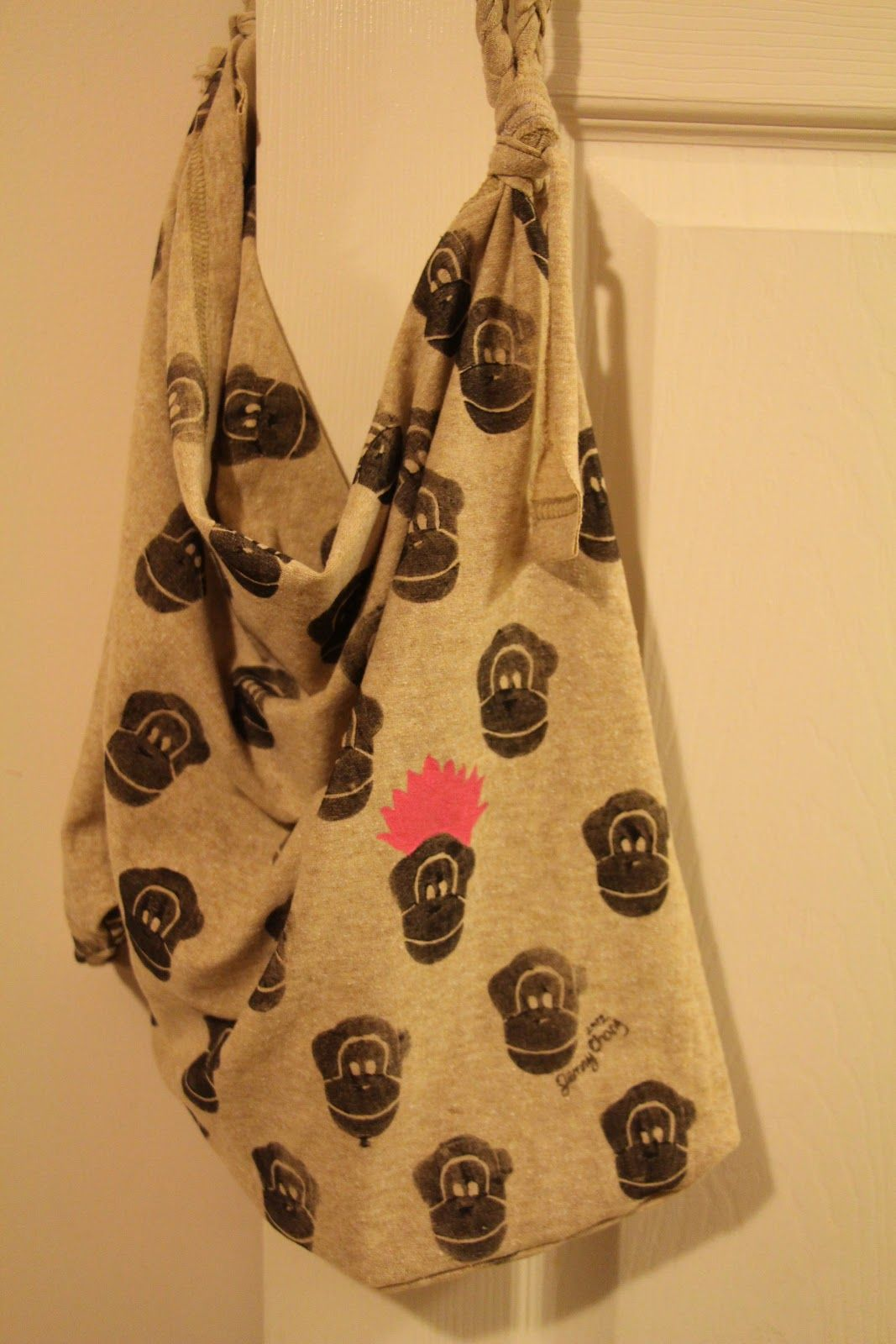 T Shirt into Bag Tutorial ~ a bird in the hand art