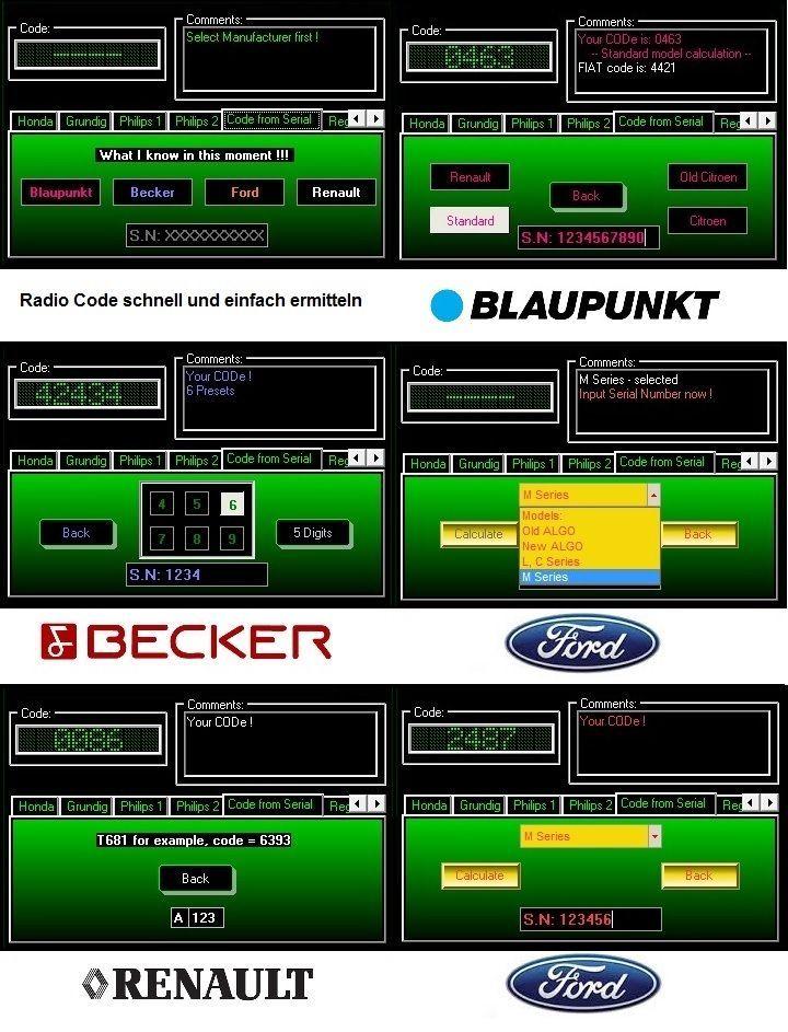 Software Auto Radio Code Key Code Generator Blaupunkt Becker