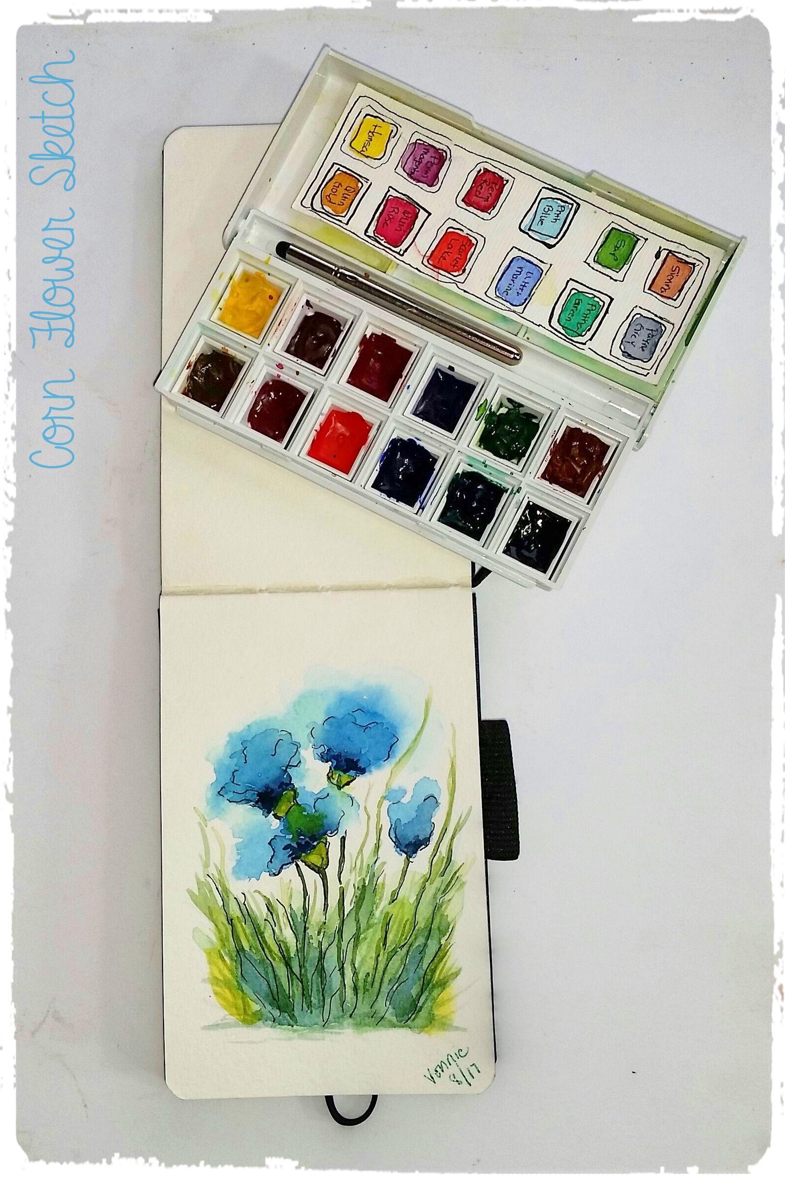 Sketchbook Pocket Palette Box Sketch Book Watercolor