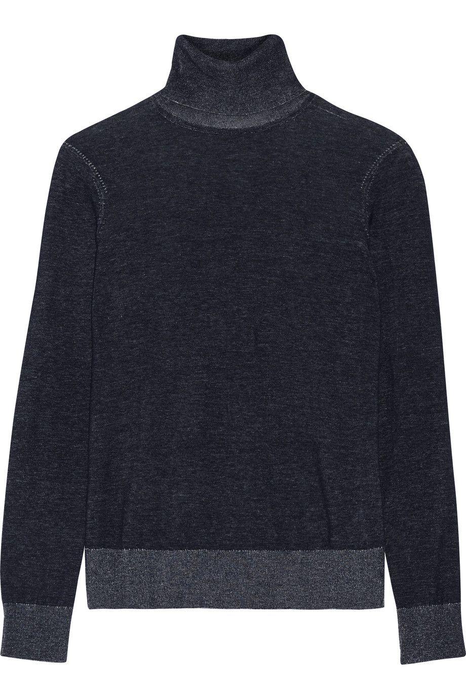Men Long Sleeve Thermal Cotton High Collar Skivvy Turtle Neck Sweater Winter UK