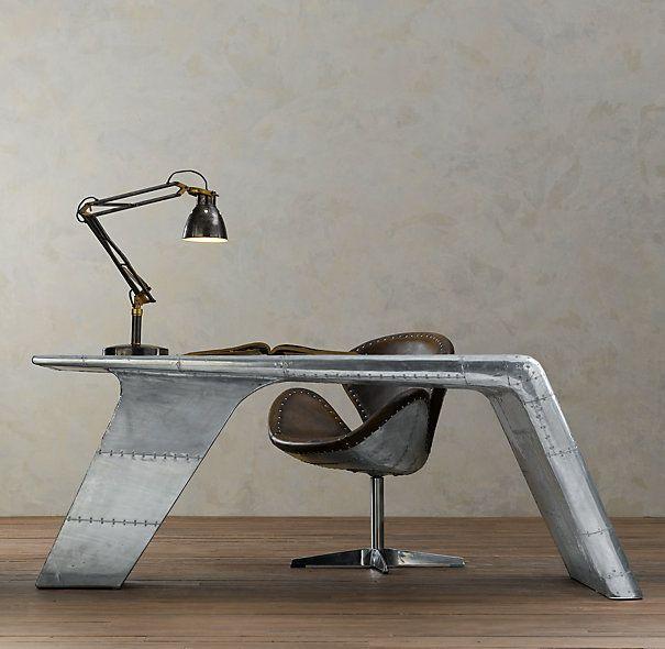 Aviator Wing Desk In 2020 Aviation Furniture Restoration Hardware Furniture Collection