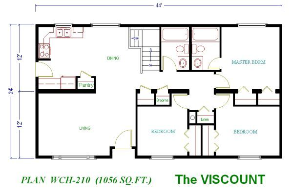 Homes Under Square Feet to 1200 Square Foot House Plans