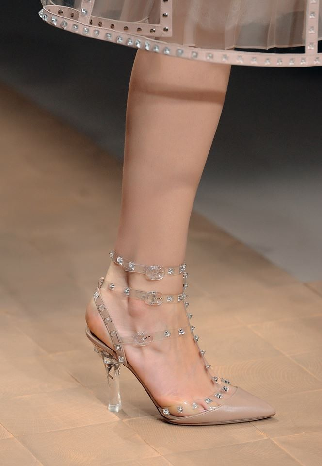 1f476d0c8ff Valentino plexi glass heels and transparent PVC straps decorated ...
