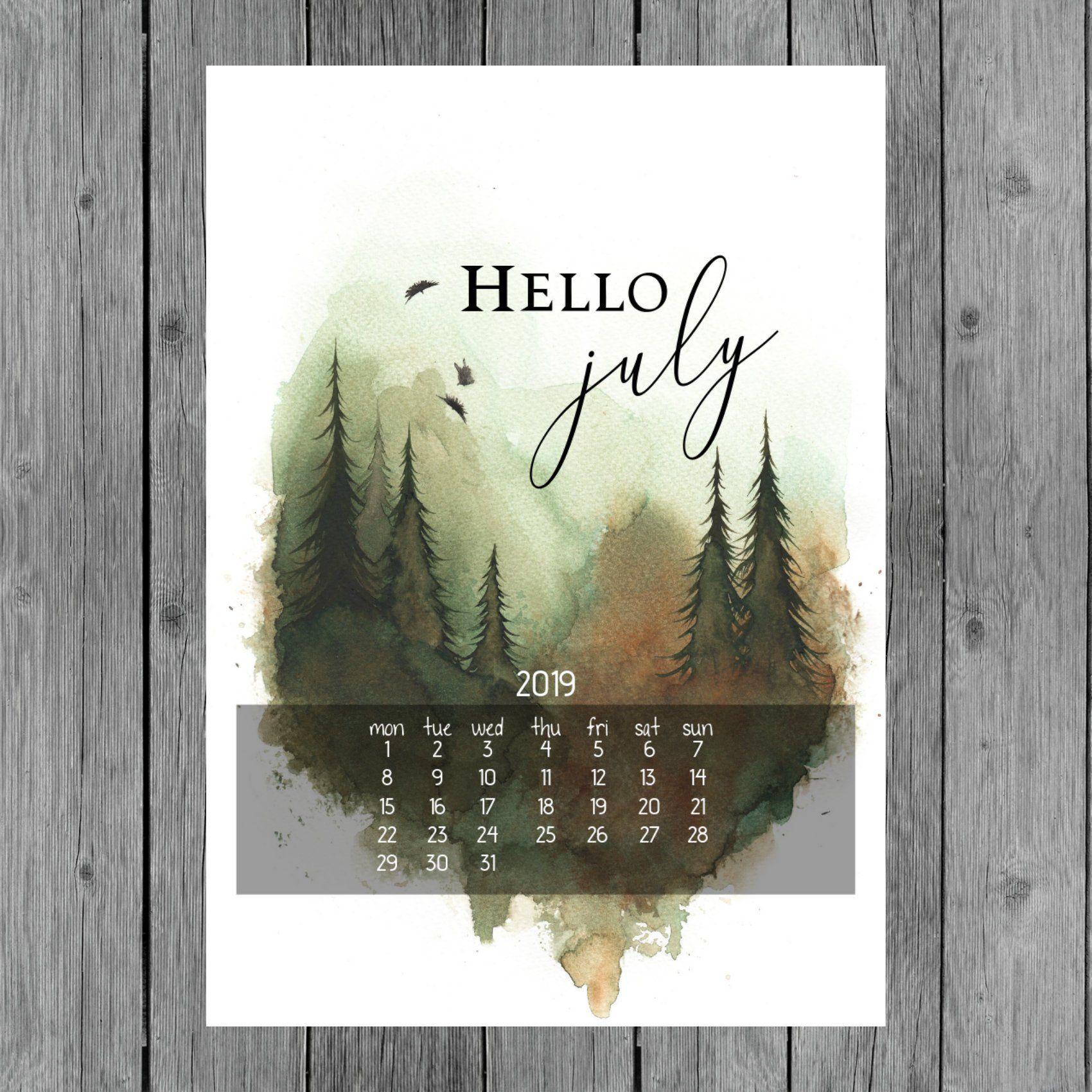 Printable Calendar For July 2019 Wall Calendar Printable Pdf A4