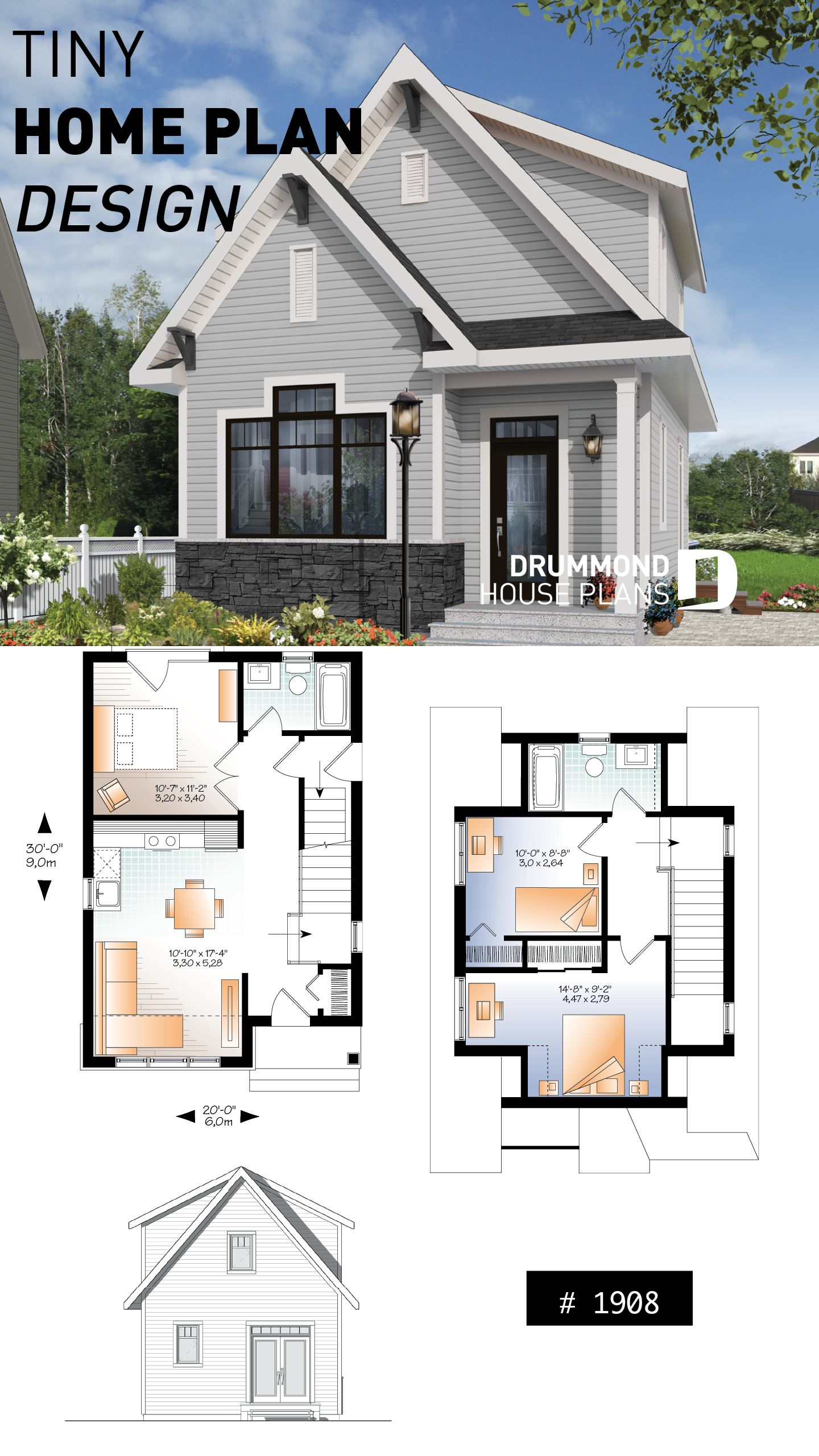 Discover The Plan 1908 Melia Which Will Please You For Its 2 3 Bedrooms And For Its Country Styles Sims House Plans Starter Home Plans Cottage House Plans