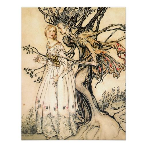 Fairy Song 1908 by Arthur Rackham 7x5 Inch Print