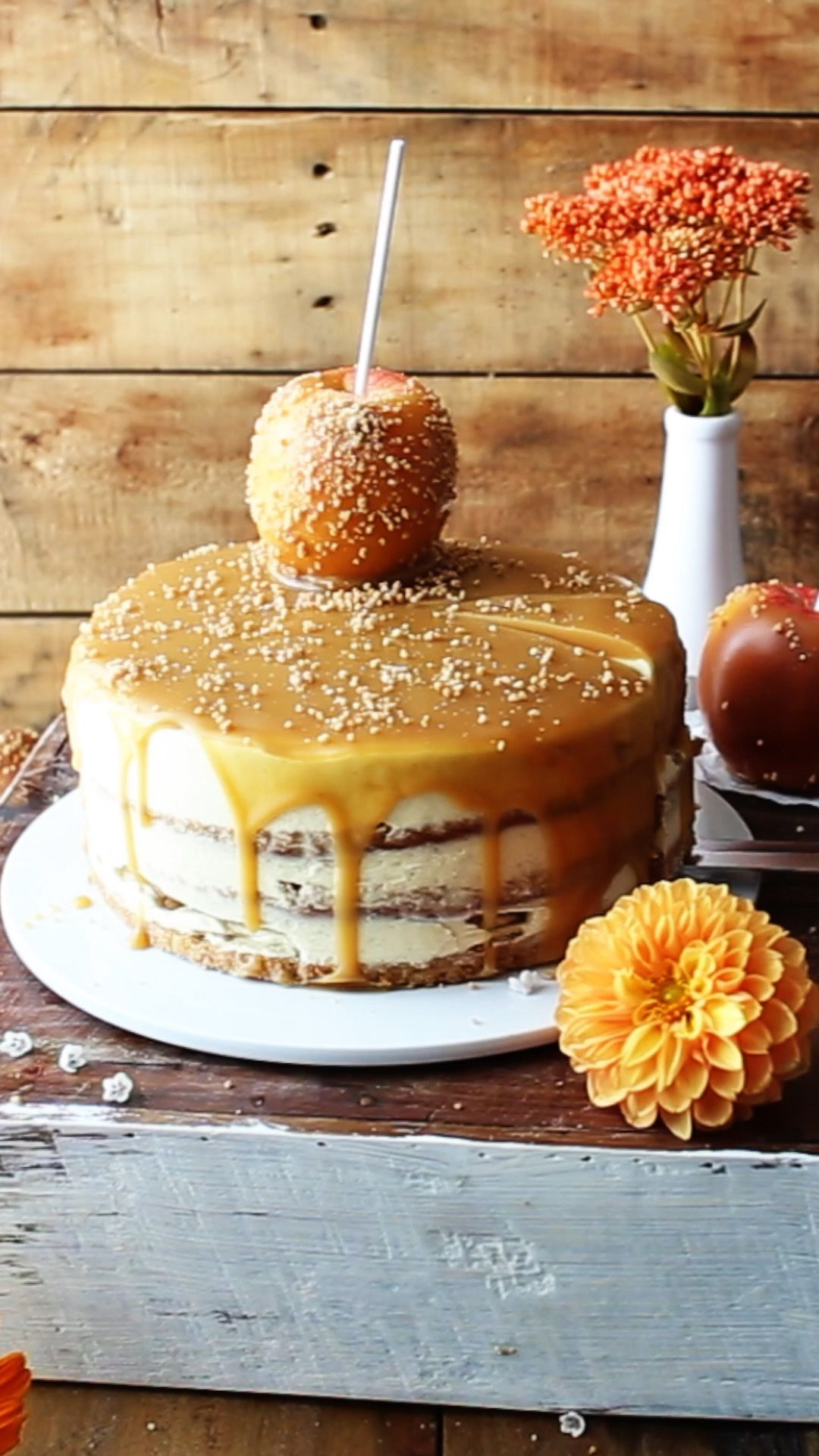 Caramel Apple Cake Recipe | Also The Crumbs Please #caramelapples