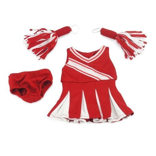18-inch Doll Clothes - Cheerleader Dress with Pants and Pom Poms - fits American Girl ® Dolls #18inchcheerleaderclothes Red and white cheerleader outfit.  Comes with a pair of pom poms that your doll can hold and a pair of red panties.  Great price too! #18inchcheerleaderclothes 18-inch Doll Clothes - Cheerleader Dress with Pants and Pom Poms - fits American Girl ® Dolls #18inchcheerleaderclothes Red and white cheerleader outfit.  Comes with a pair of pom poms that your doll can hold and a #18inchcheerleaderclothes