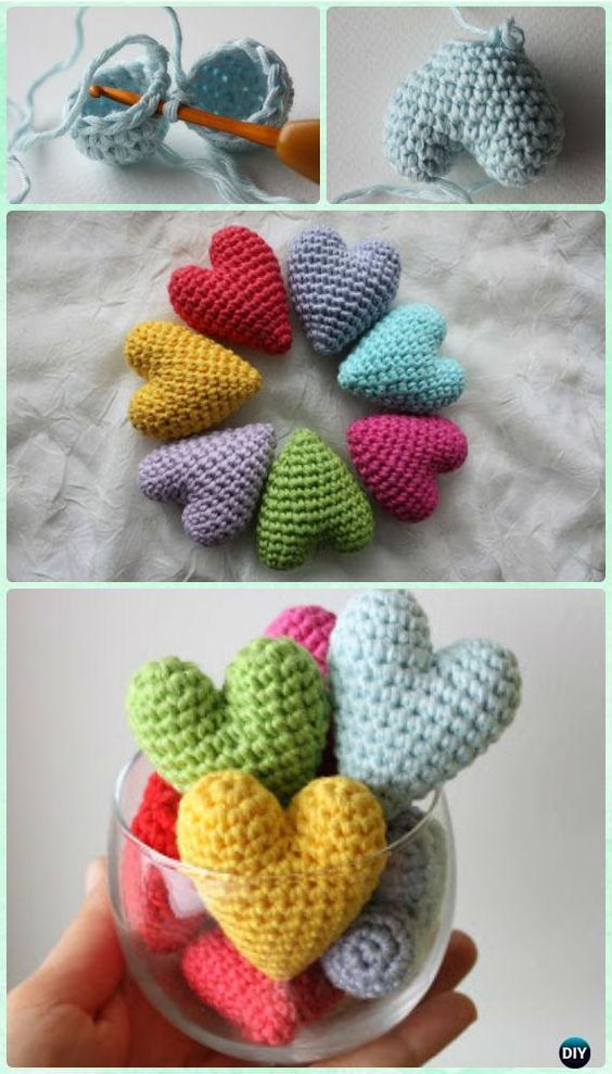 Crochet pattern Amigurumi heart pattern US terms DIY pattern | Etsy | 989x564