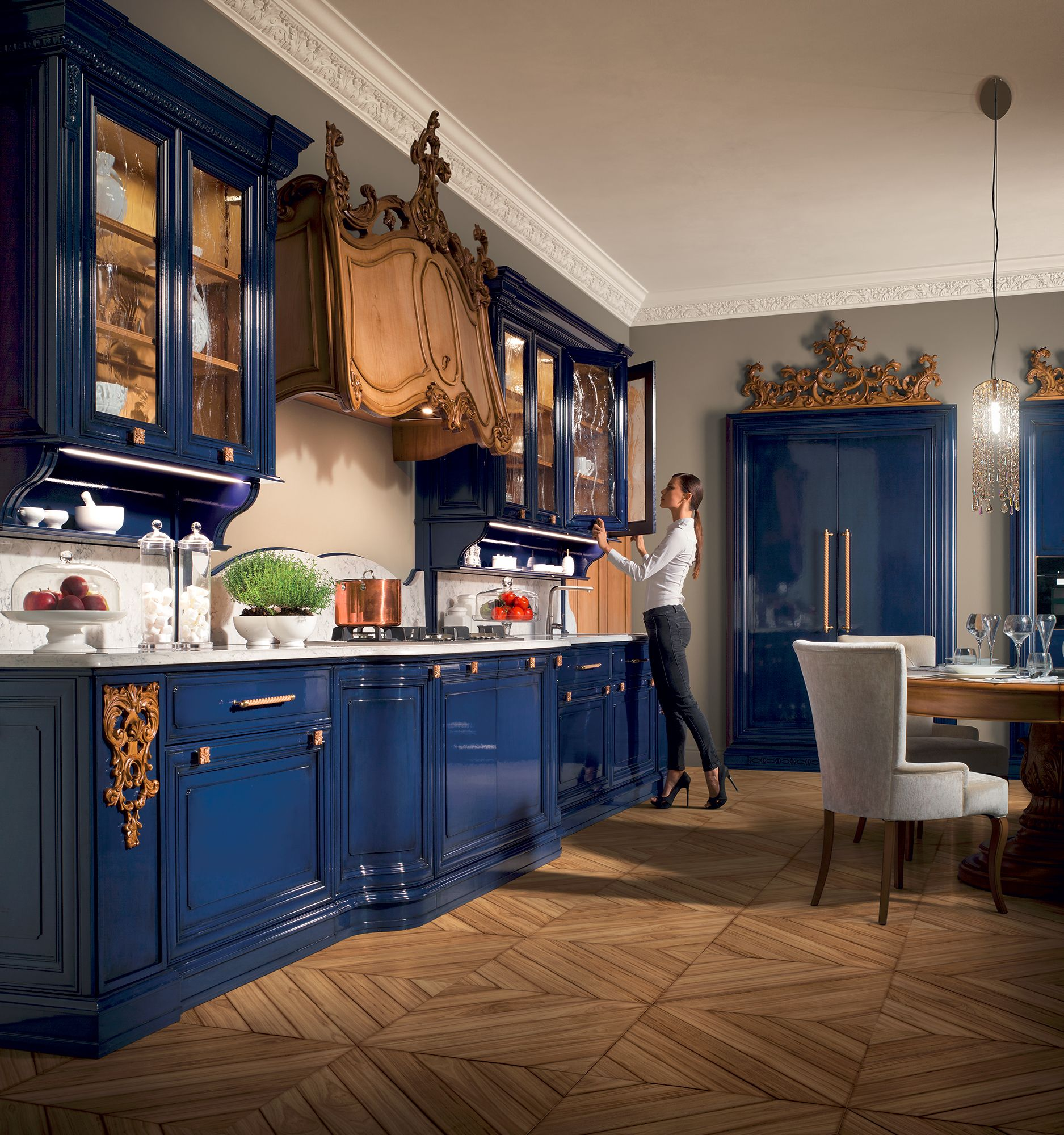 Prestige Kitchen Cabinets: Regina Goccia Di Luna Luxury Kitchen