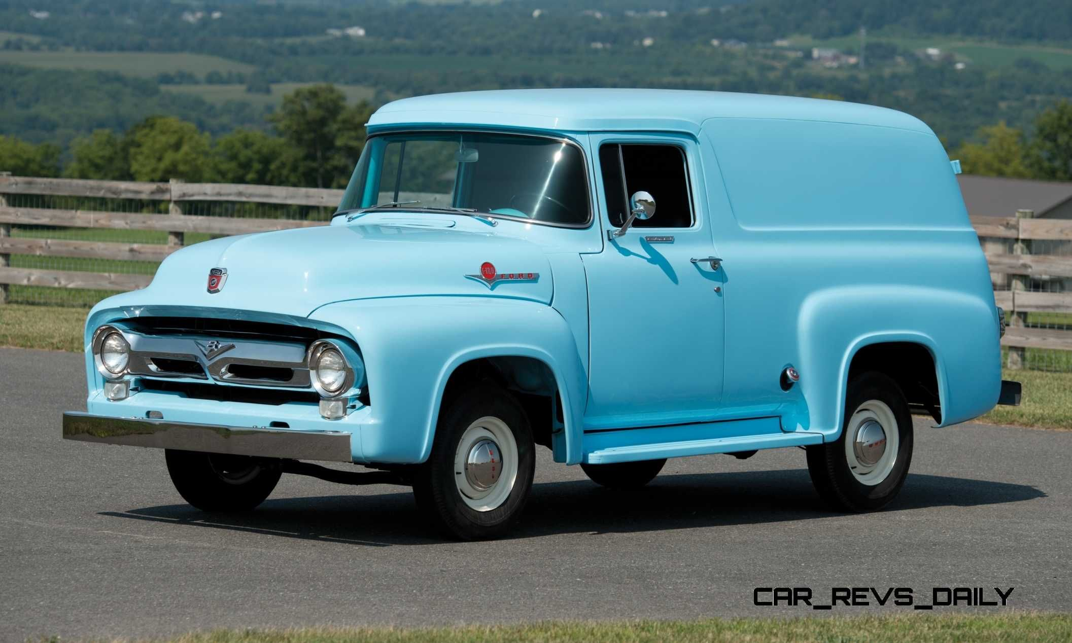 1956 ford concept car rm hershey 2014 highlights 1956 ford f 100 panel truck 1956